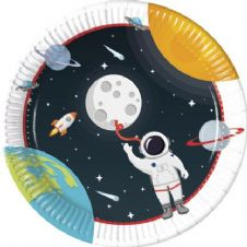 8 Space Paper Party Plates